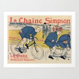 Toulouse-Lautrec vintage cycling ad Art Print