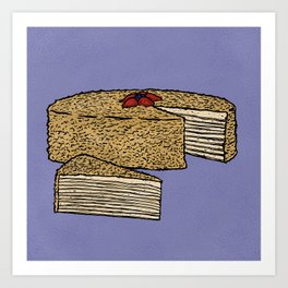 N is for Napoleon Cake Art Print