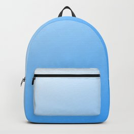 Baby Powder Blue Modern Chic Ombre Design Backpack