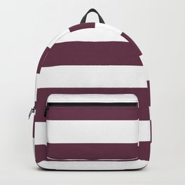 Wine dregs - solid color - white stripes pattern Backpack