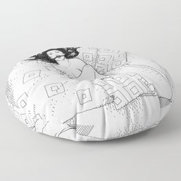asc 547 - My New Year's resolutions - September  Floor Pillow