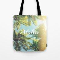 aloha Tote Bags featuring AloHa by ''CVogiatzi.