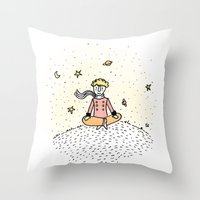 little prince Throw Pillows featuring Little Prince by nelasnow