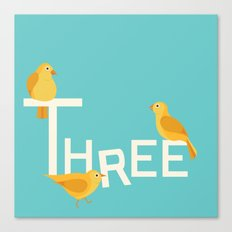 Three Songbirds Canvas Print