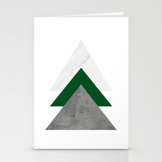 Marble Green Concrete Arrows Collage by byjwp
