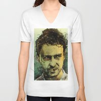 monster V-neck T-shirts featuring Schizo - Edward Norton by Fresh Doodle - JP Valderrama