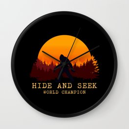 Bigfoot - Hide and Seek World Champion Wall Clock