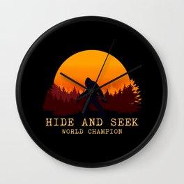 Bigfoot - Hide and Seek World Champion Wall Clock