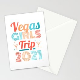 Vegas Girls Trip 2021 Vacation Partying Gift Women Stationery Cards