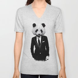 Panda Suit Unisex V-Neck