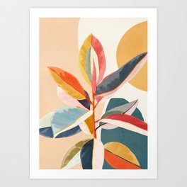Colorful Branching Out 05 Art Print