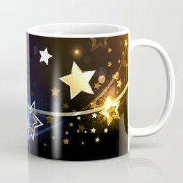 Abstract Background with Contrasting Stars Coffee Mug