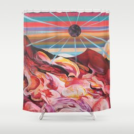 Party on Mars Shower Curtain
