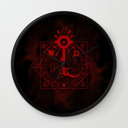 IS Symbol on Red Wall Clock