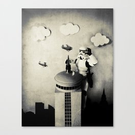 Storm kong (Those are not the Planes you are Climbing for) Canvas Print
