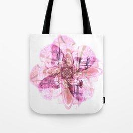 Abstract digital flower in pink Tote Bag