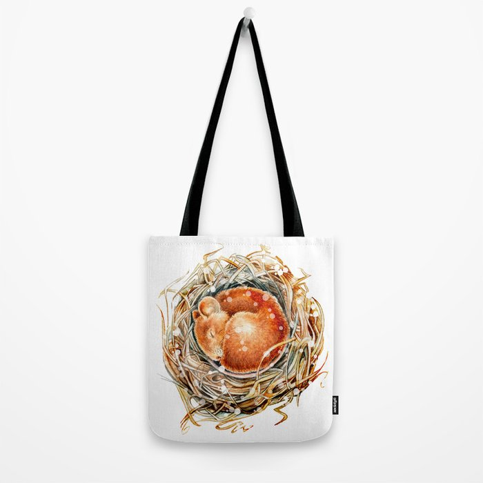 Mouse in the Snow Tote Bag