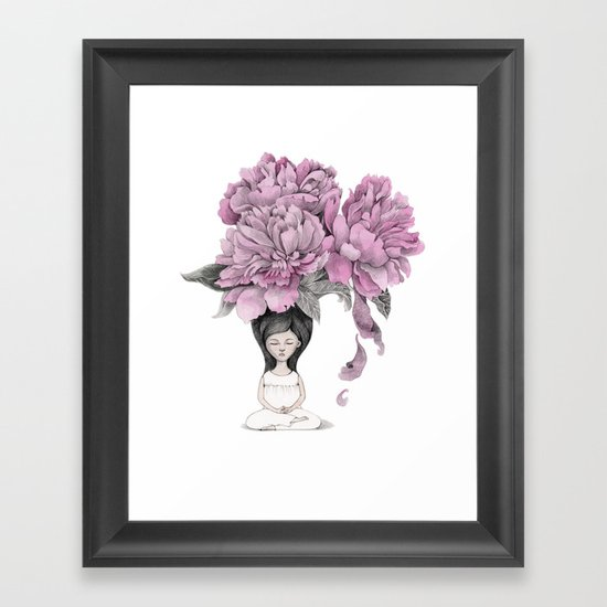 Meditation moment Framed Art Print