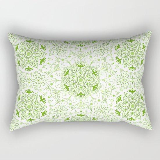 Mandala_Green Rectangular Pillow