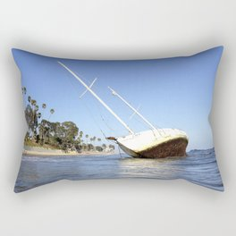 "Sailboat ""SHIP ASHORE""  Rectangular Pillow"