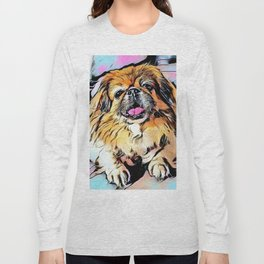 Pekingese Cartoon photo Long Sleeve T-shirt