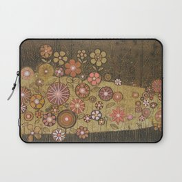 Wild Flower Collagraph Laptop Sleeve