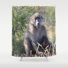 """""""Hey, whassup,"""" said the Baboon Shower Curtain"""