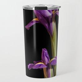 Purple Iris Portrait Travel Mug
