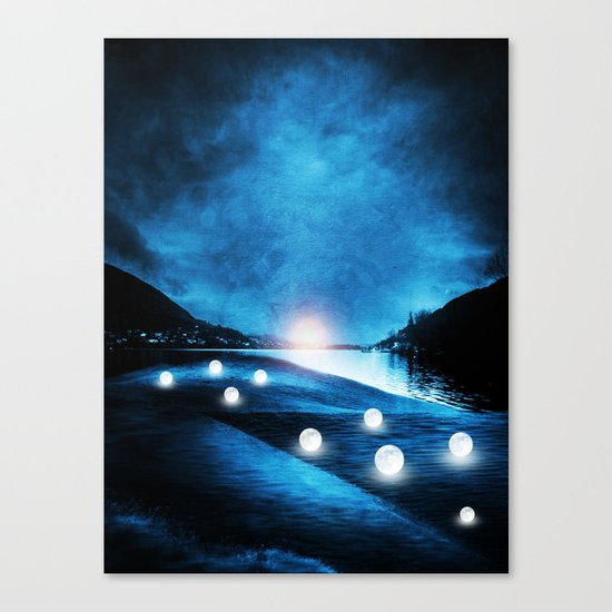 Field of lights Canvas Print