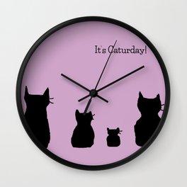 It's a cute Caturday ! Wall Clock
