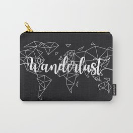 Wanderlust geometric world map Carry-All Pouch