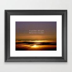 Golden Delight Framed Art Print