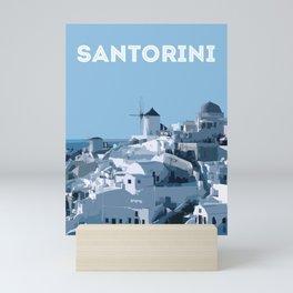 SANTORINI Mini Art Print