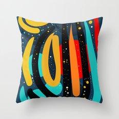Starry Night of Summer Abstract Art Throw Pillow