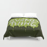 the thing Duvet Covers featuring Swamp Thing by Chelsea Herrick