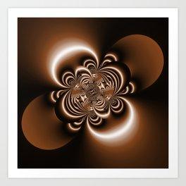 3D - abstraction -50a- Art Print