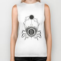 cancer Biker Tanks featuring Cancer by LydiaS