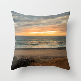 South Carlsbad State Beach Throw Pillow