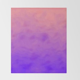 Pink and Purple Ombre - Swirly Throw Blanket
