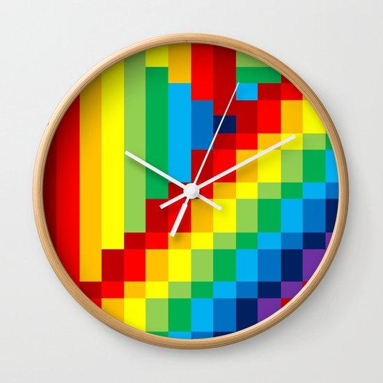 Fuzz Line #3 Wall Clock
