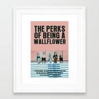 the perks of being a wallflower Framed Art Prints featuring The Perks Of Being A Wallflower by FunnyFaceArt