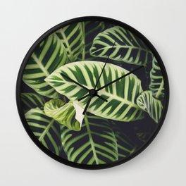 Jungle Botanicals Wall Clock