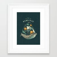 whale Framed Art Prints featuring Whale | Petrol Grey by Seaside Spirit