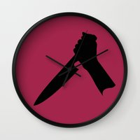 psycho Wall Clocks featuring Psycho by FilmsQuiz