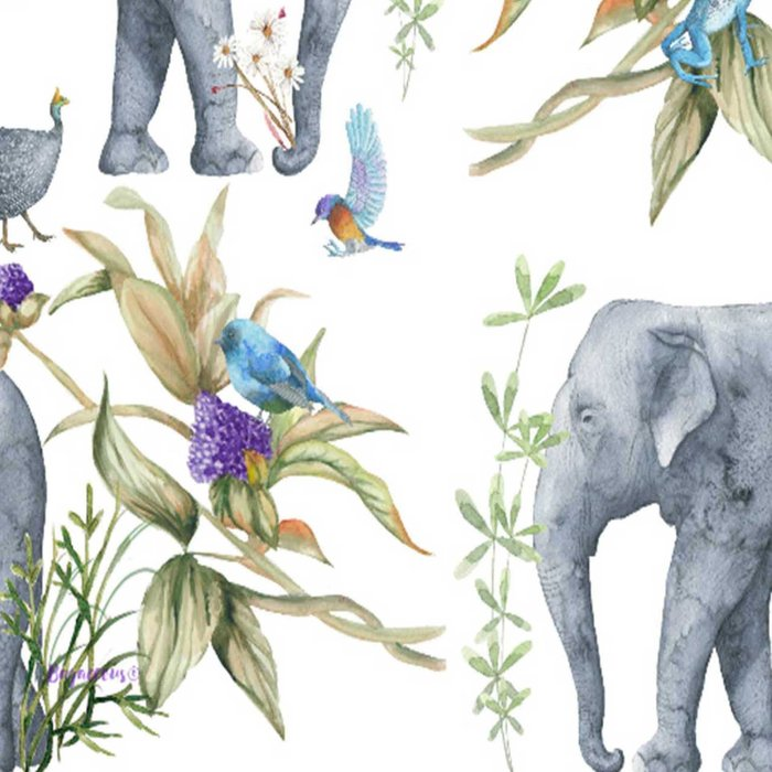 Elephants On Parade Illustration - Bagaceous Leggings