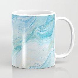 Calm Seas: Acrylic Pour Painting Coffee Mug