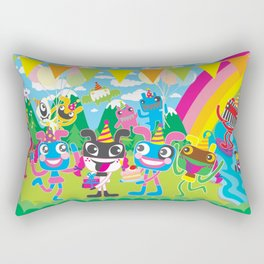 """Happy Birthday"" Plushism land Celebration!!! Rectangular Pillow"