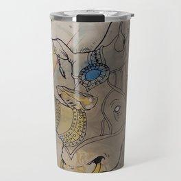 Embellished Rhino Travel Mug
