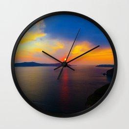 Fira,Sunset Wall Clock