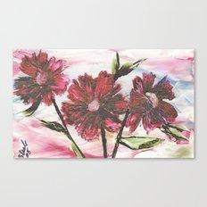 Encaustic flowers Canvas Print